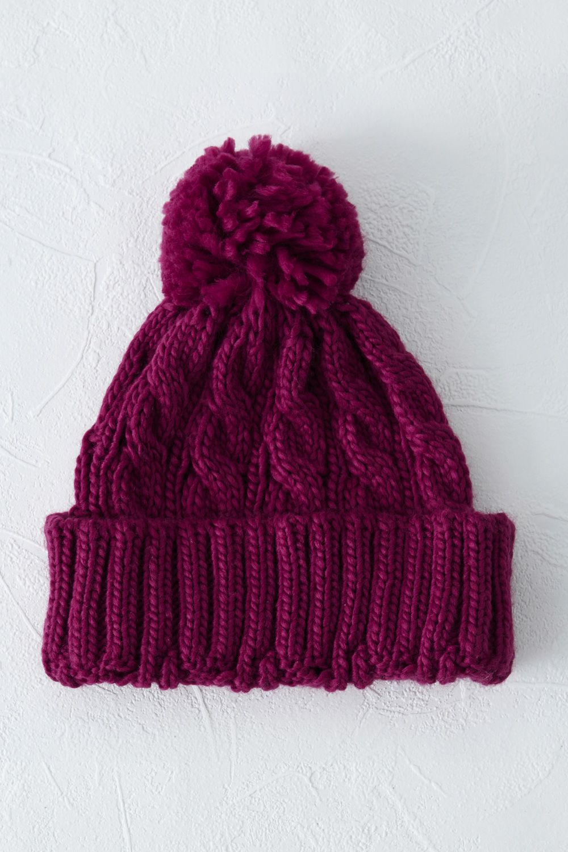 Maroon Bobble Hat