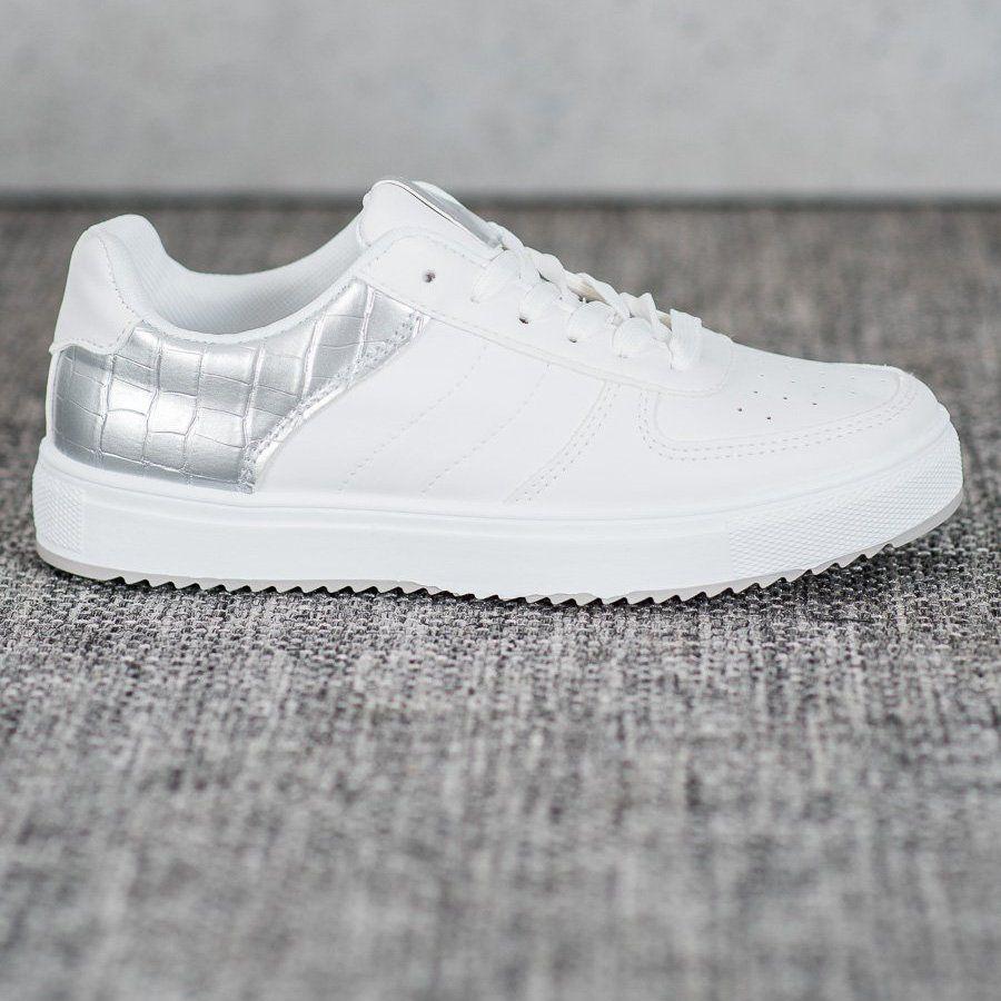 Shelovet Stylowe Buty Na Platformie Biale Szare White Sneaker Adidas Tubular Adidas Sneakers