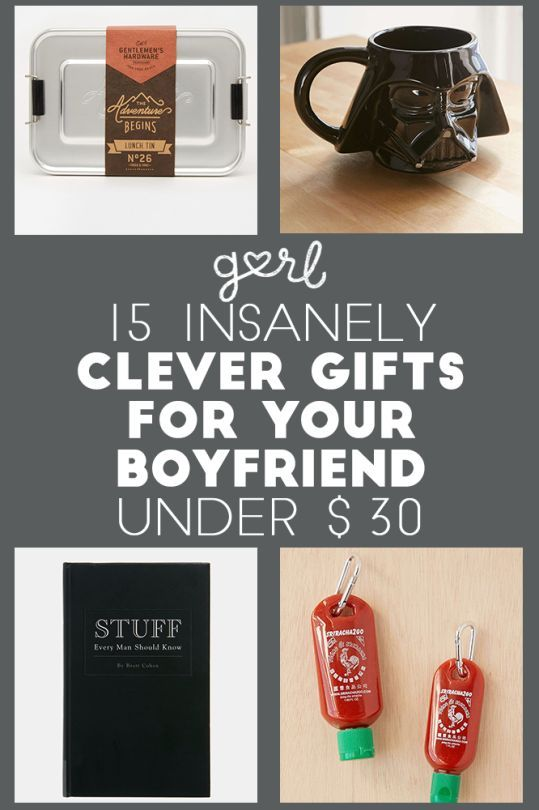 15 Insanely Clever Gift Ideas For Your Boyfriend All Under 30