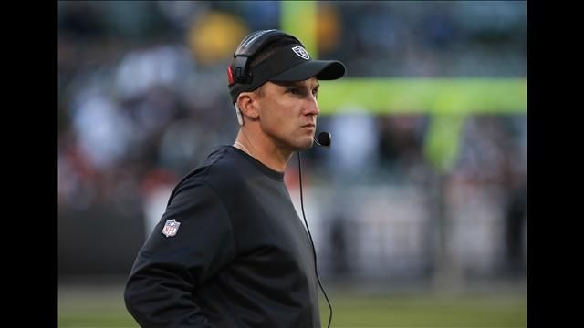 Oakland Raiders head coach Dennis Allen