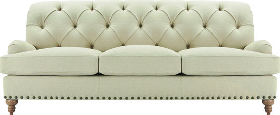 Superior Enwright Sofa By Arhaus Has Deep Tufting, Antique Nailheads And Gathered  Arm Pleats To Complete Its English Pedigree And Shape.