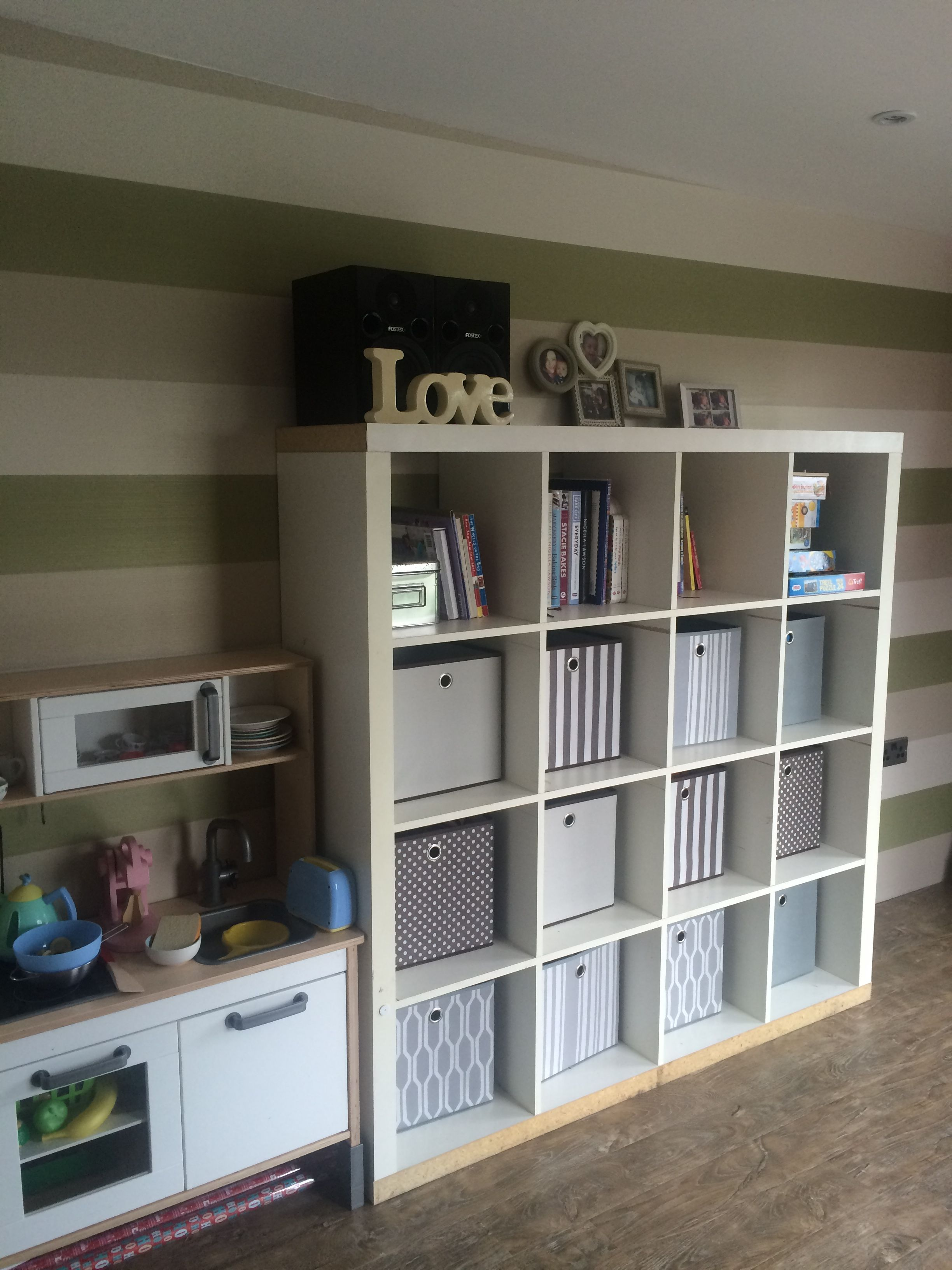 ikea kallax unit with storage boxes from argos. Black Bedroom Furniture Sets. Home Design Ideas