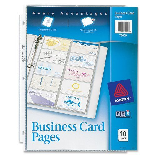 Avery Business Card Pages Pack Of 10 76009 Avery Http Www Amazon Com Dp B00006ic8i Ref Cm Sw R P Business Card Sleeve Avery Business Cards Business Cards