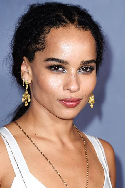 Here's The Scoop On Zoë Kravitz's Badass Silver Eye Makeup