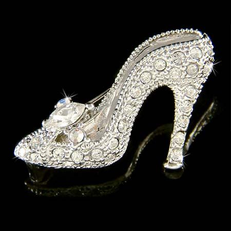 Details About Cinderella Glass Slippers Made With Swarovski