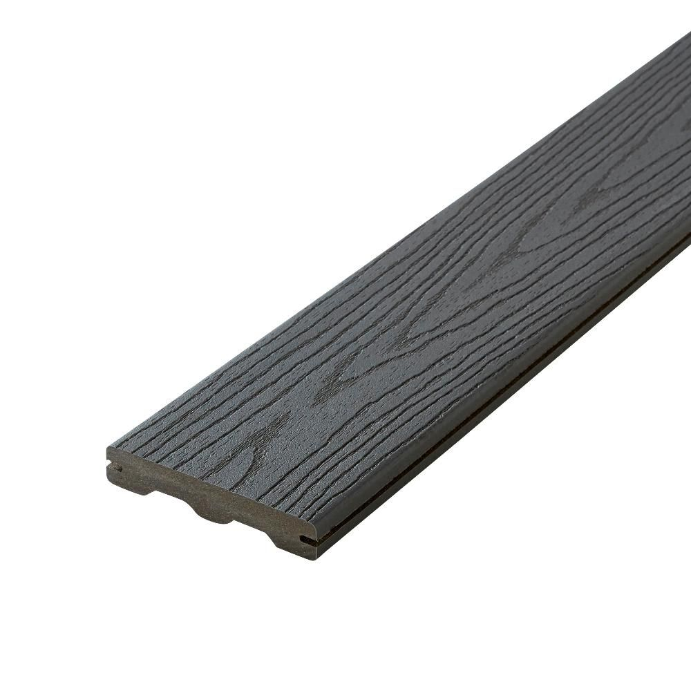 Fiberon Good Life 1 In X 5 1 4 In X 12 Ft Cottage Grooved Edge Capped Composite Decking Board 56 Pack Composite Decking Composite Deck Railing Building A Deck