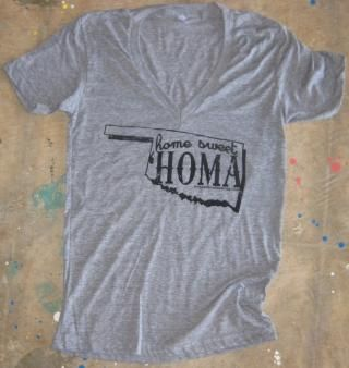 Home Sweet 'Homa Deep-V Shirt by Tree & Leaf Clothing $19.99 (OWN IT!)