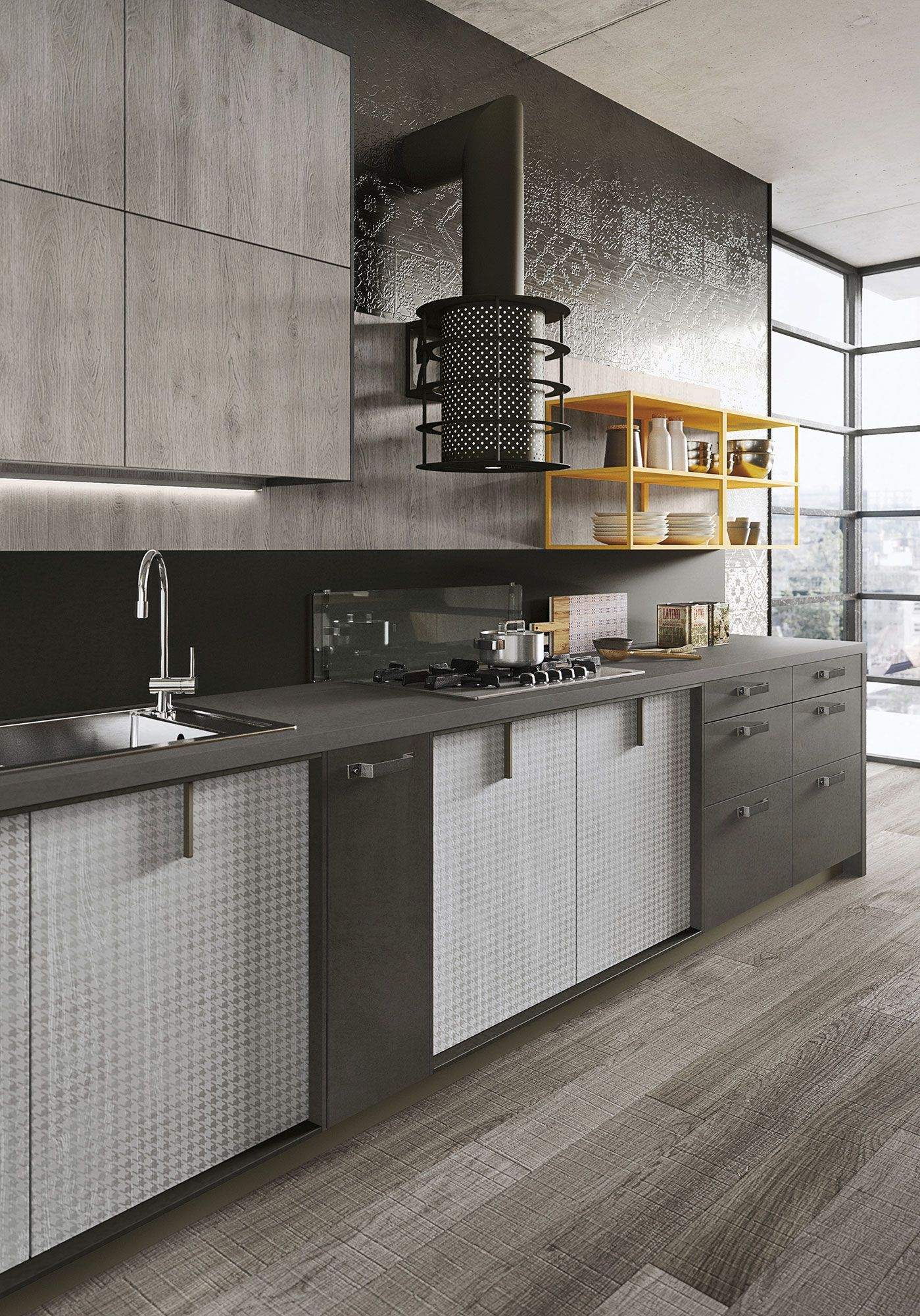 "Expression Of The Latest ""Urban"" Trends: Loft Kitchen 