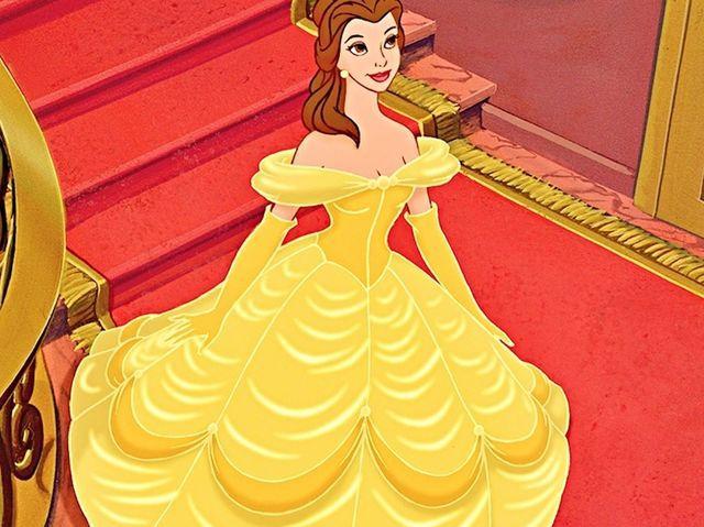 belle yellow dress cartoon