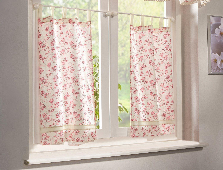 Home fashion 43726 123 rideau avec passants en tissu d 39 ameublement motif - Rideau style anglais ...