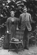 Happy 150th birthday to Beatrix Potter, shown here with her soon-to-be husband, William Heelis