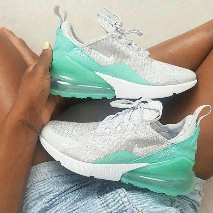 Summe Nike Air Max 270 in White mint green blue womens