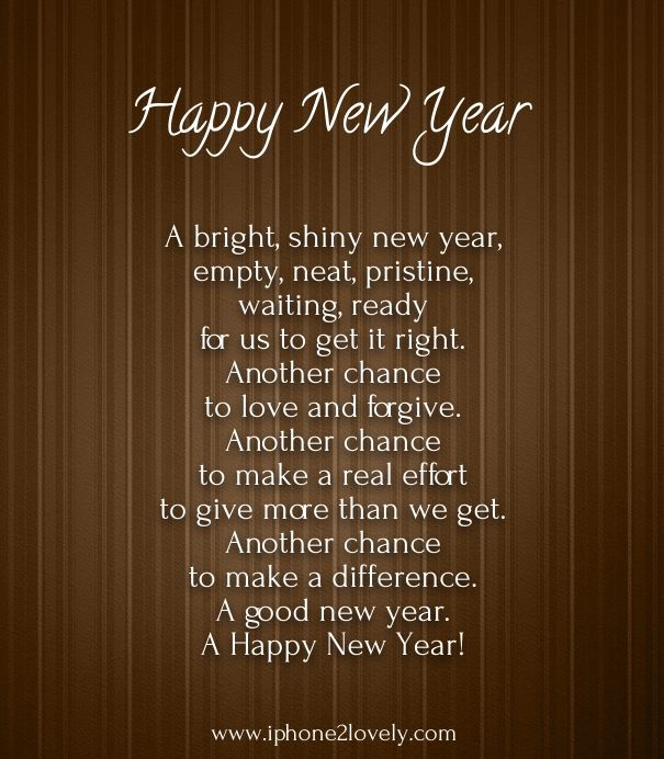 Famous New Year Poems Happy New Year New Year Wishes New Year