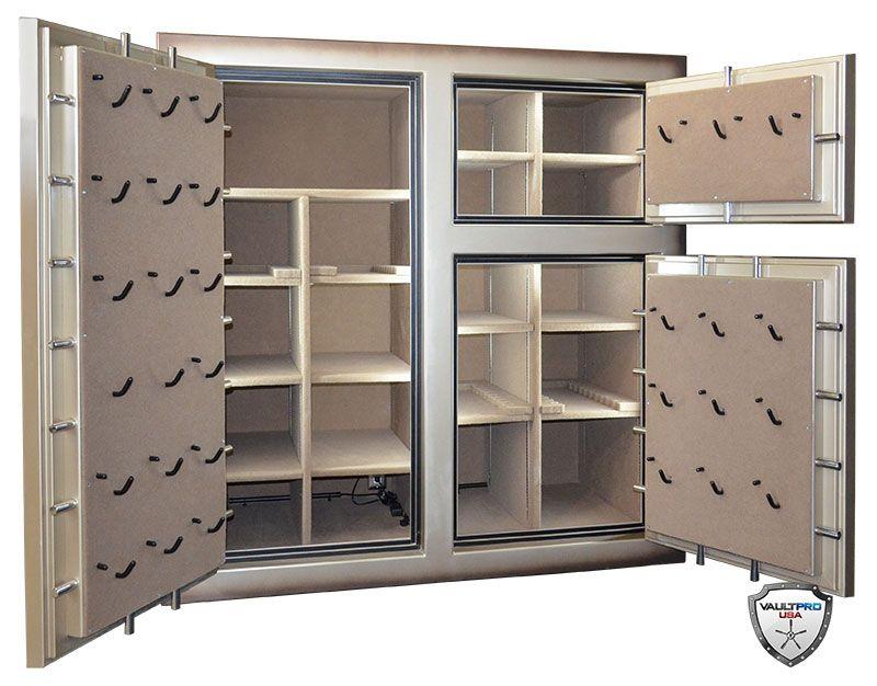 Custom Triple Door Monster Safe Interior With L.E.D. Lighting U0026 Pistol Pro  Door Backs By Vault