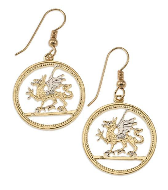 welsh dragon earrings wales one pound hand cut review drop and