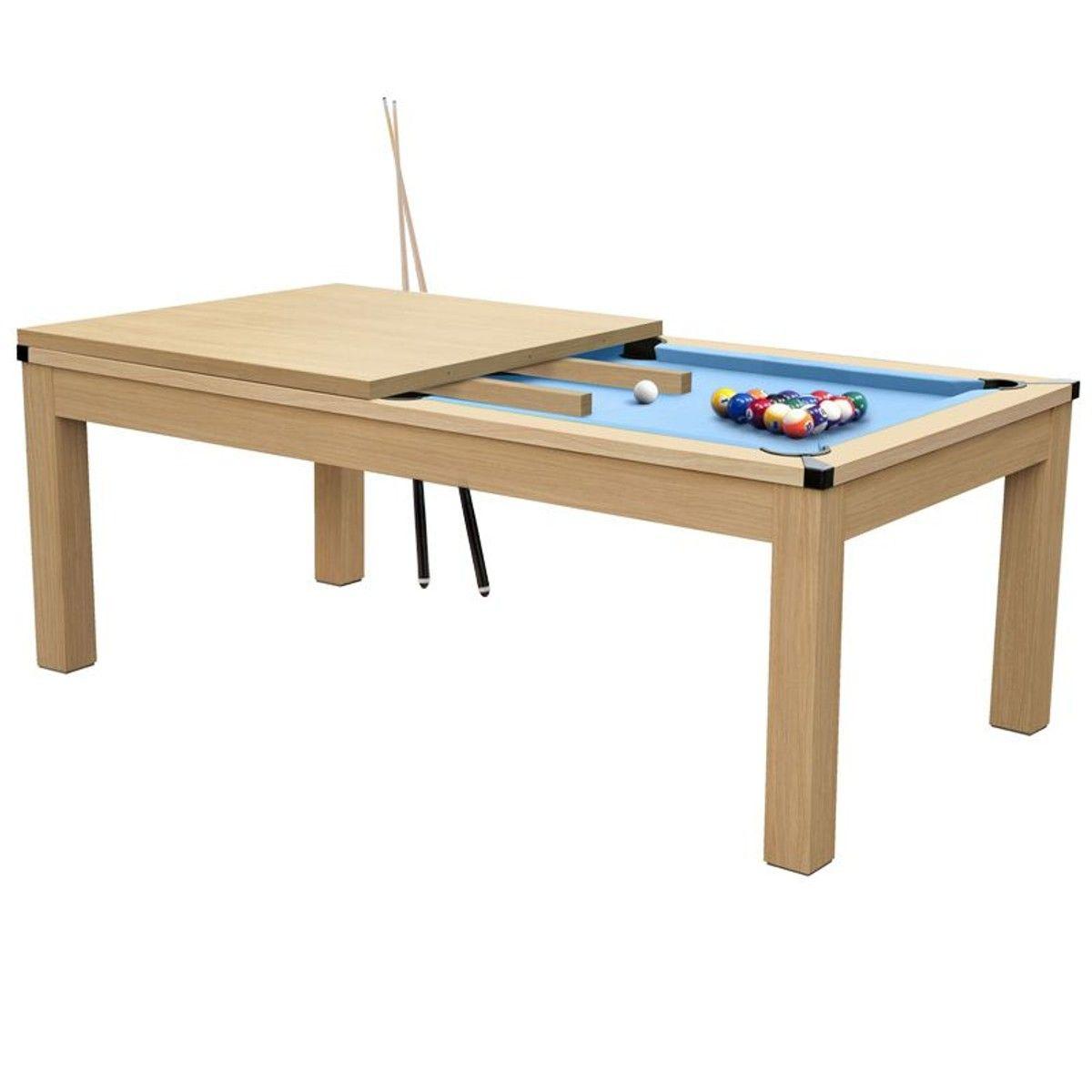 De Hêtre Table Convertible Bleu Billard Tapis Taille8 roeQdBxWC