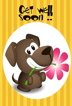 Get Well Soon Puppy Printable Card Customize Add Text And Photos