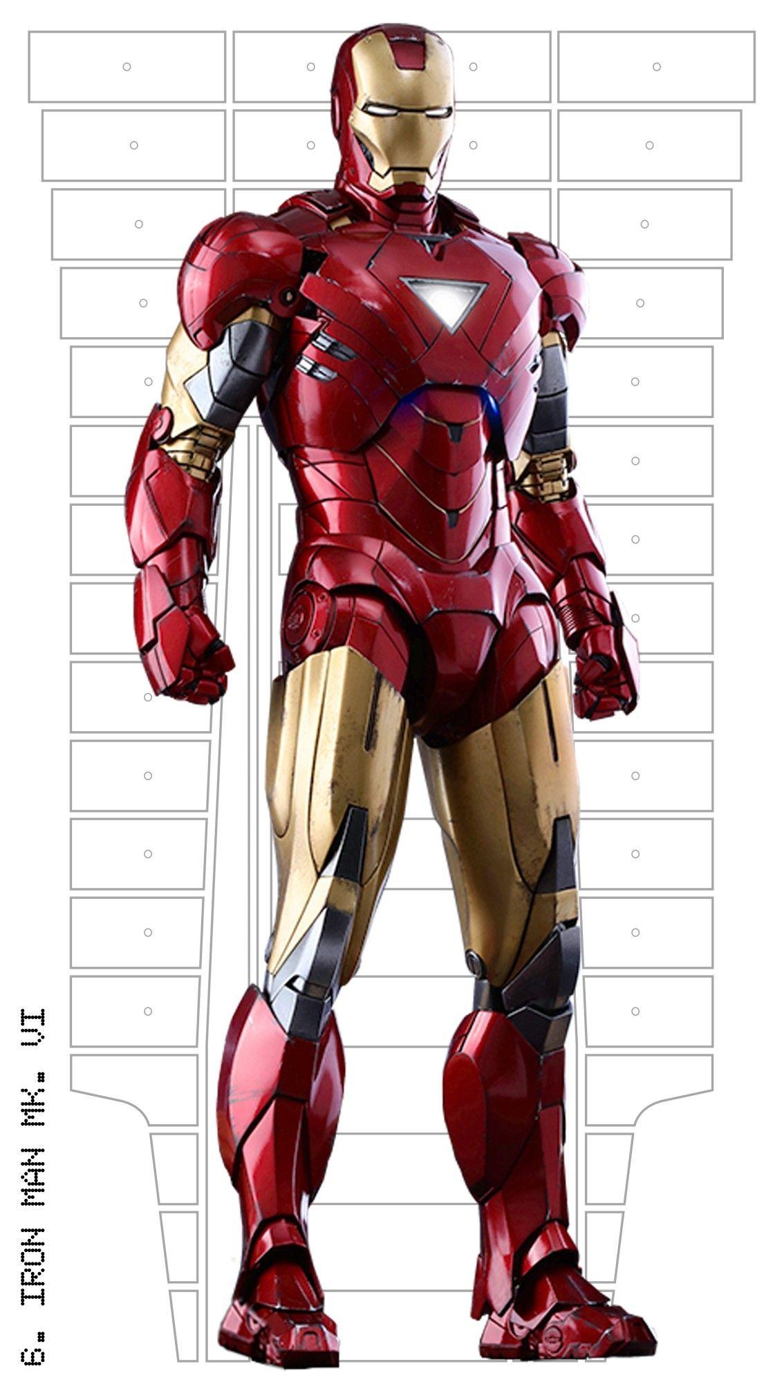 Iron Man Suit Template : template, Armor,