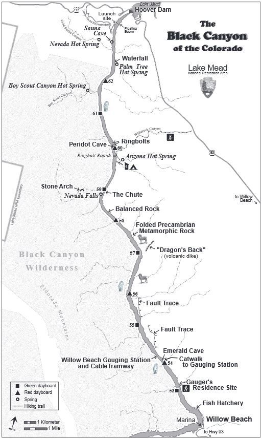 National Park Service Pdf Map Of Black Canyon Of Lower Colorado River Downstream From Hoover Dam Black Canyon Colorado Nevada Travel Vegas Vacation
