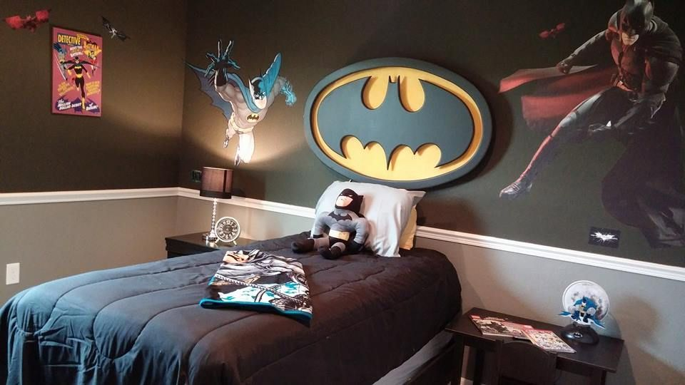 We Are In The Process Of Decorating Our New Model Home In Palmetto, Fla.,  Which Includes This FUN Batman Themed Kids Bedroom!
