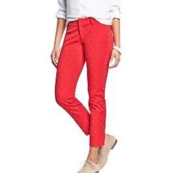 Red polka dot pixie pants nwt pixies navy pants and ankle red polka dot pixie pants bnwt no trades swaps or off posh transactions sisterspd