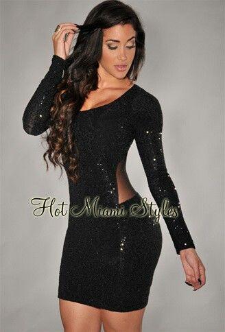 Black glitter short sexy dress | ♔Clothes Envy♚ | Pinterest ...