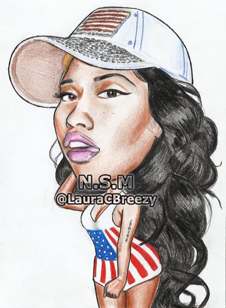 Nicki Minaj karikatúra porno