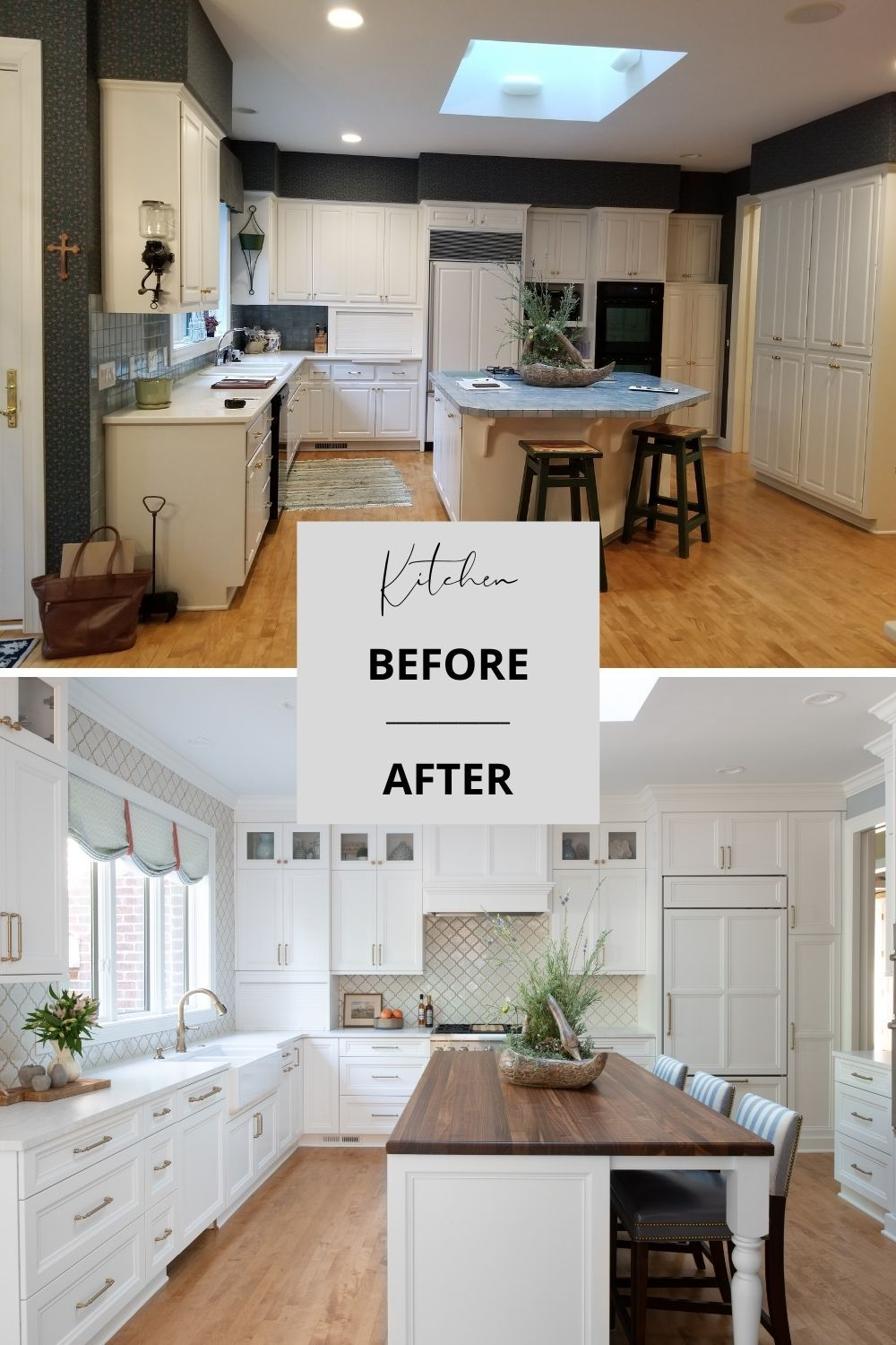 Traditional Kitchen Remodel Before After Traditional Kitchen Remodel Custom Kitchen Remodel Kitchen Cabinet Remodel