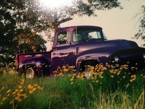 1956 Ford Pick Up for sale (TX) - $20,000 '56 Ford Pick Up - Awesome Truck!!!! Restored in 1991 True Mileage unknown. 2 Doors. Purple exterior paint. Gray/White Tuck&Roll Vinyl interior. with Bu