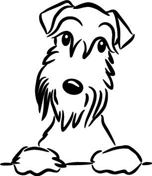 schnauzer dog sticker vinyl decal for car and others