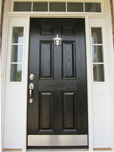 Another Front Door Option Love The Nickel Hardware And Kick Plate House Exterior Rehab