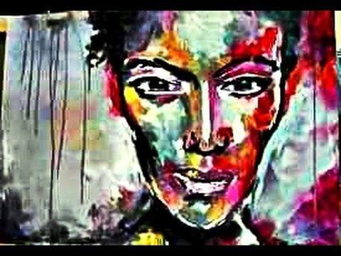 Portrait Abstrait  Facile  Peindre Abstrait Au Couteau Peinture