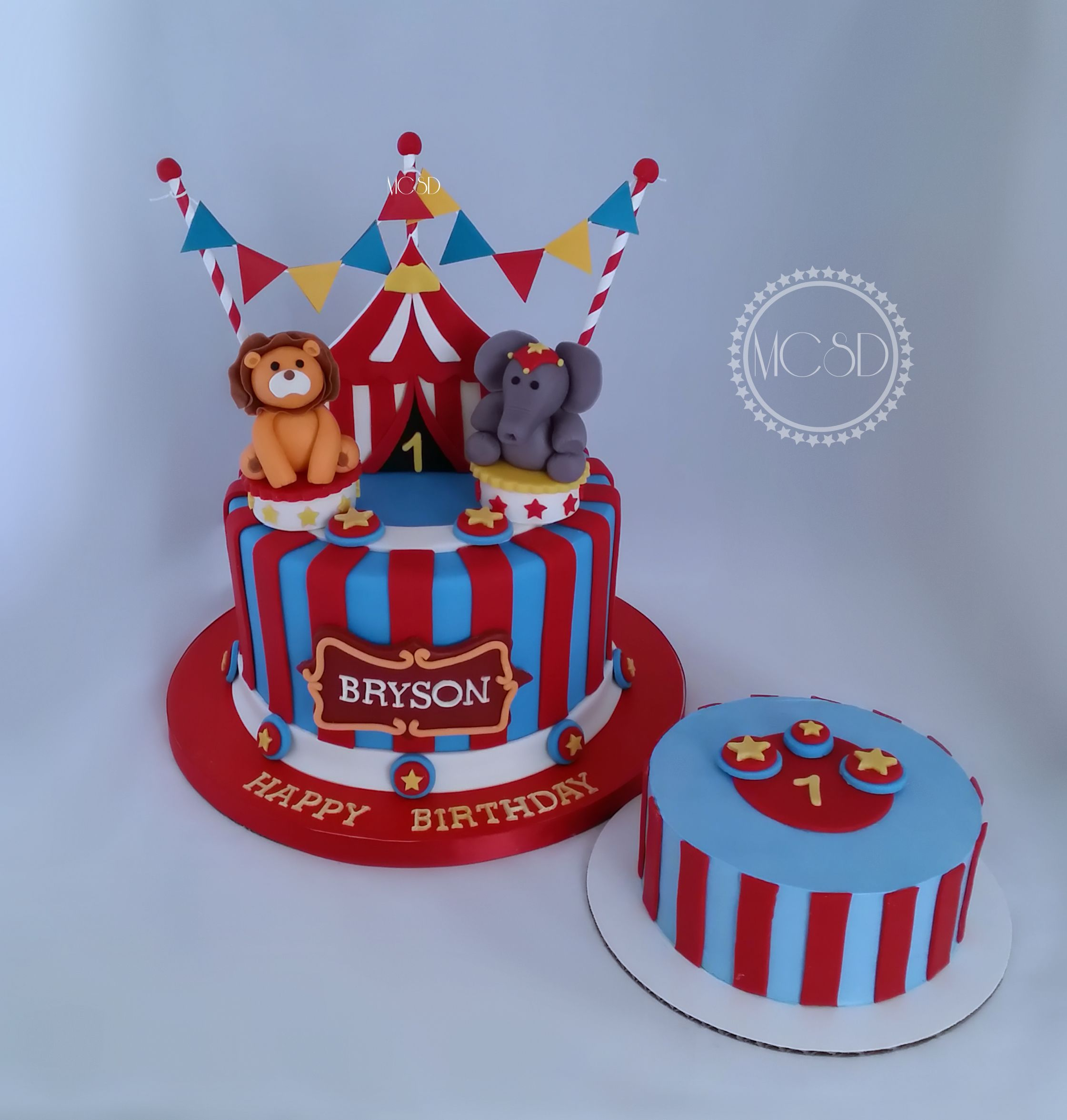 Carnival Circus 1st Birthday Cake Smash Cake With Images