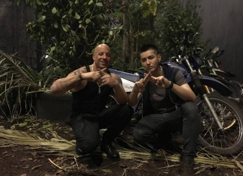 Vin Diesel shares video with 'xXx3' co-star Kris | http://www.allkpop.com/article/2016/02/vin-diesel-shares-video-with-xxx3-co-star-kris