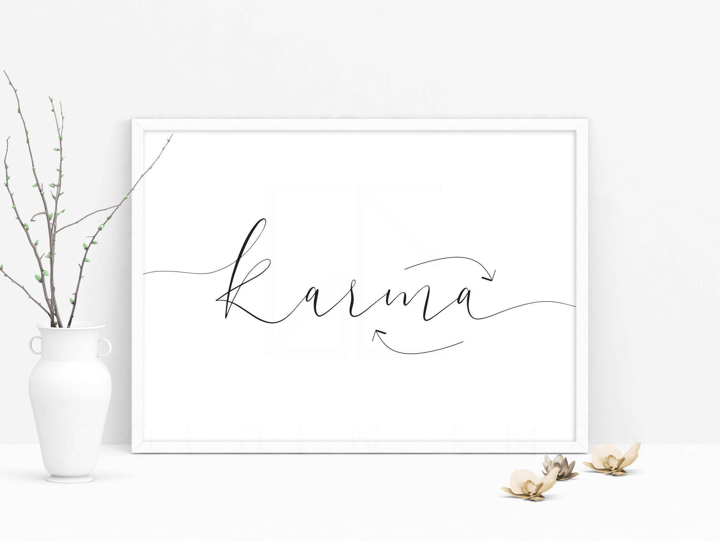 karma QUOTE, karma print, PRINTABLE quote in 2020 Karma