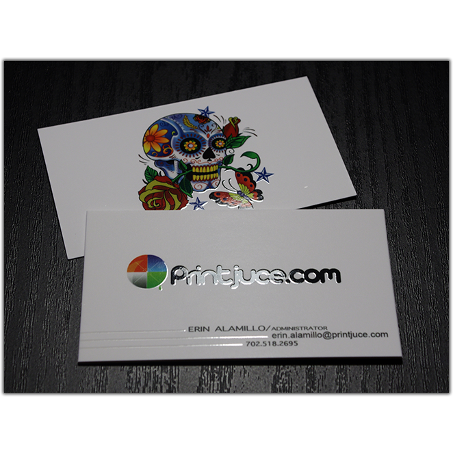 Silk Laminated Business Cards with Spot UV option