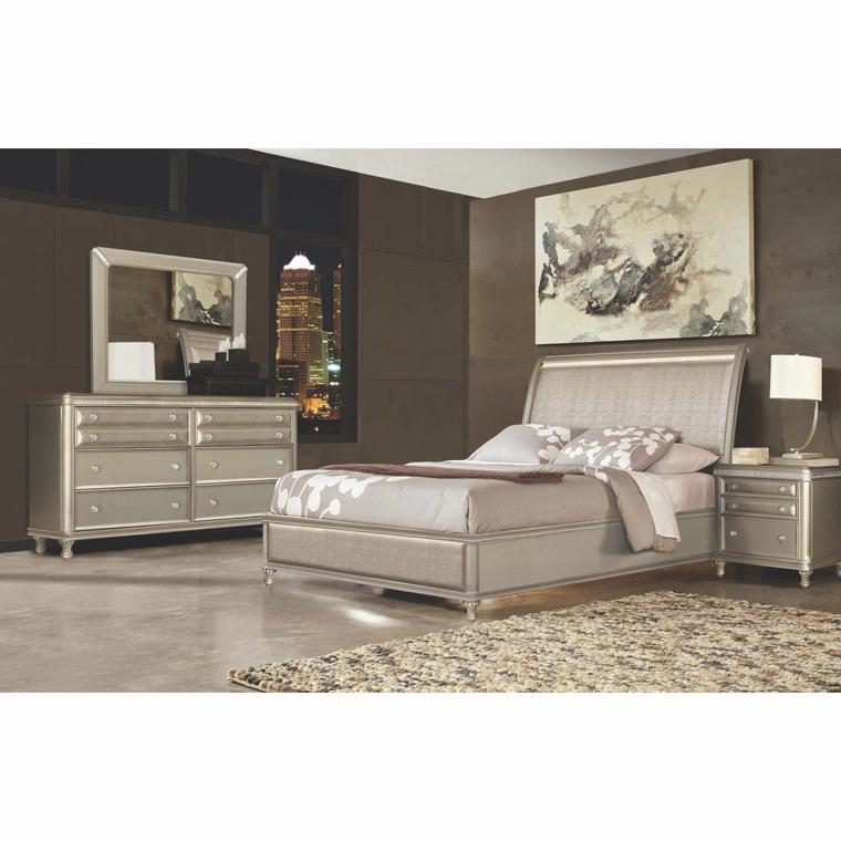7Piece Glam Queen Bedroom Collection. Bedroom sets