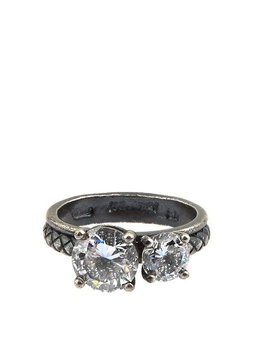 Bottega Veneta Cubic zirconia sterling silver ring WN0hQ0W