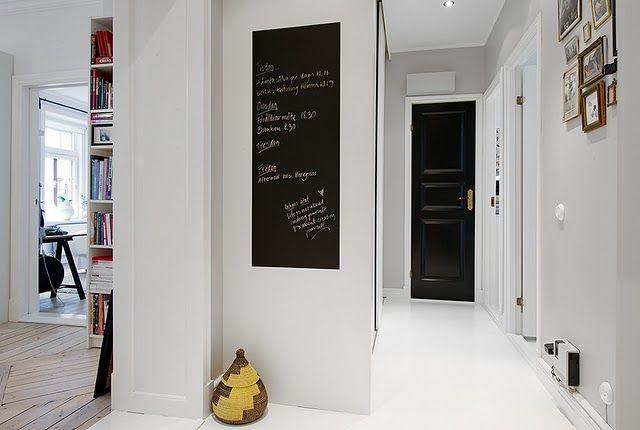 hallway - chalkboard idea