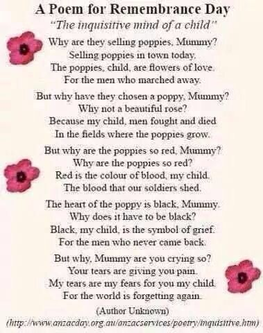 Wear Youre Poppie With Pride Barbara Remembrance Poems