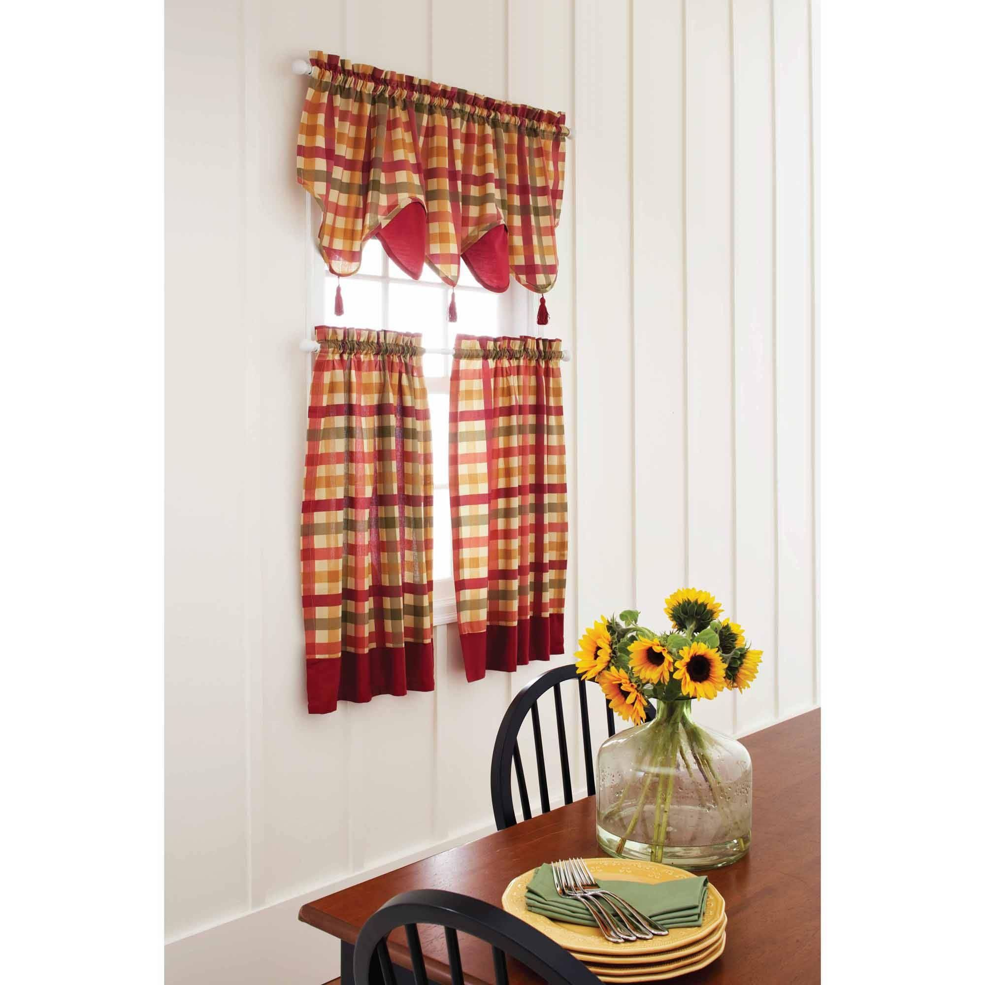 Red and white checkered kitchen curtains latulufofeed
