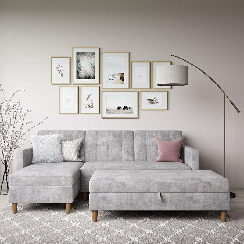 Kayden 84 Chenille Reversible Sleeper Sofa Chaise In 2020 Sectional Sleeper Sofa Sleeper Sectional Modern Sleeper Sofa