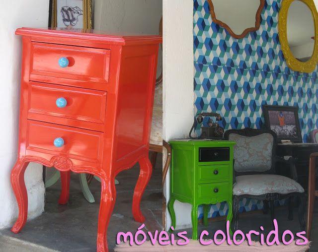 Franci Halat - MODA: Móveis antigos coloridos