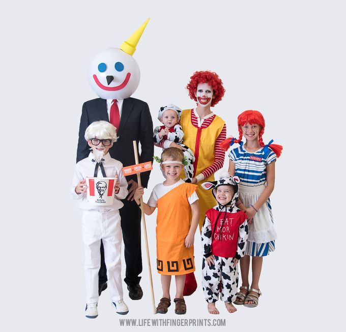 fast food mascots awesome family halloween costumes life with fingerprints