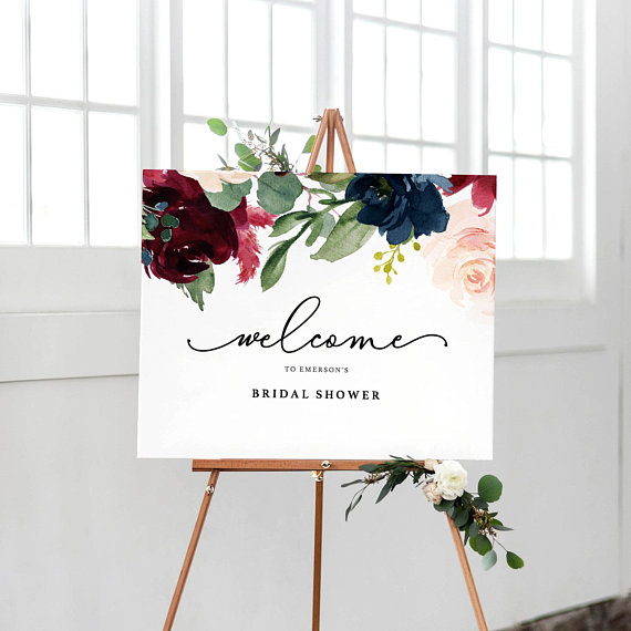 picture about Welcome Signs Template referred to as Welcome Bridal Shower Indication Template, Printable Welcome Indication