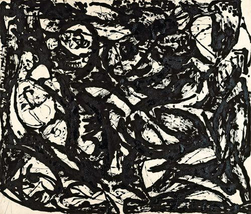 Jackson Pollock. Black & White No.15. 1951   Art   Pinterest ...