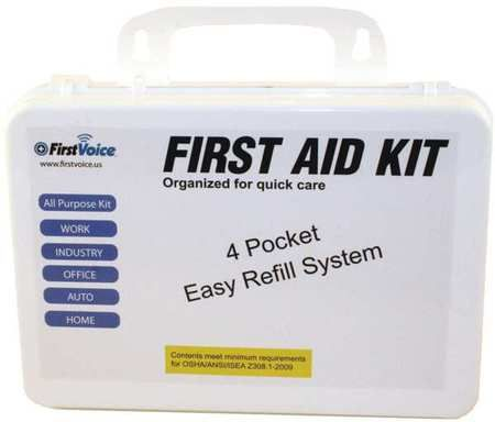 First Voice Ansi-10P First Aid Kit,94 Components,10 People