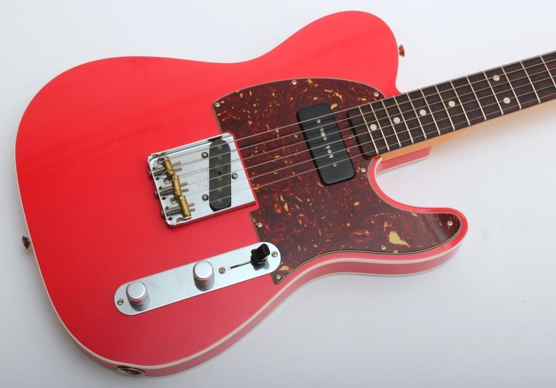 Fender Custom Shop 60 Telecaster With P 90 Closet Classic Faded Fiesta Red Musica