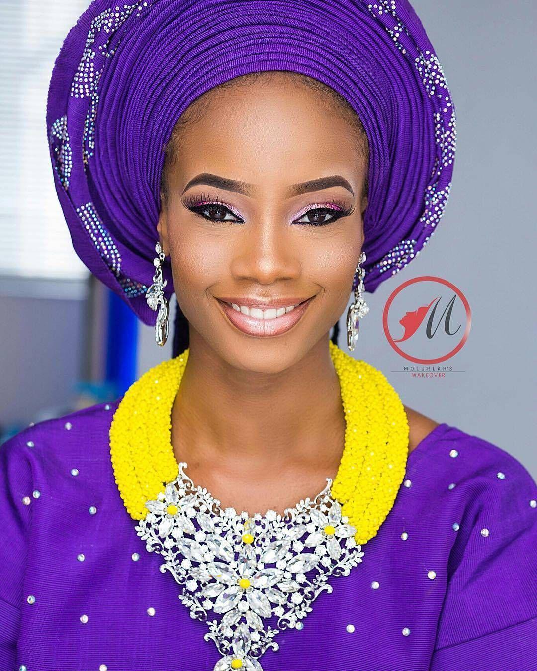 ⚜lovely ⚜ Makeup by @molurlahsmakeover  Beads by @rochem_iyaileke Asooke by @asookebyt  Model @_a.adrian  Repost @BellaNaijaWeddings #naijabestmua #cleanbeat #lash #love #beautiful #promua #smile #pretty #nude #cuteeyes #flawless #awesomeness #freshface #beauty #naijabestmua #beauty  #makeup #fotd #eotd #amrezy #anastasiabeverlyhills  #vegasnay #makeupjunkie #makeupartist  #blackkbombshells #melanin #bellanaijaweddings  #melaninbeauties #melaningirls #makeupforblackwomen #hudabeauty #w...