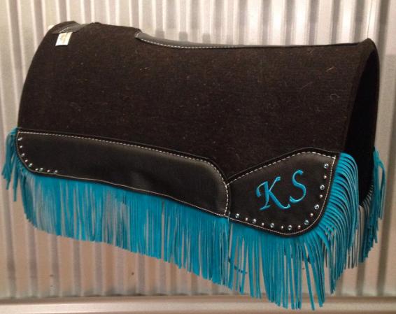 Fringe and crystals Best Ever Pads custom western saddle pad | Best